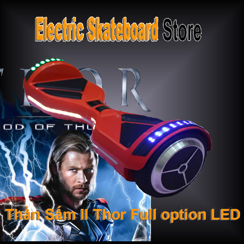 xe điện tự cân bằng hoverboard torch II thần sấn 2 full led